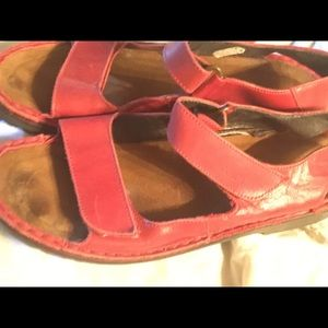 Red leather strap NAOT 39 size 9 sandals